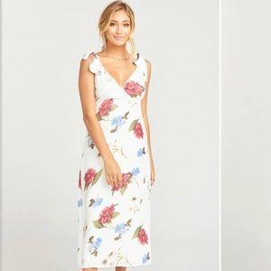 Show Me Your MuMu White Dress Size LG